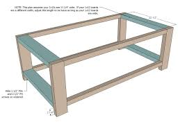 rustic chest coffee table plans