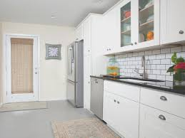 kitchen view white and grey kitchen cabinets small home