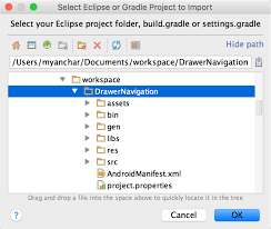 android gradle migrate to android studio android studio