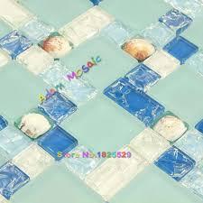 online get cheap kitchen backsplash tile sheets aliexpress com glass tile blue mosaic kitchen backsplash sea shell tile bathroom wall matt subway deco sheet