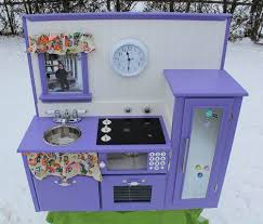 diy play kitchen ideas purple diy play kitchen
