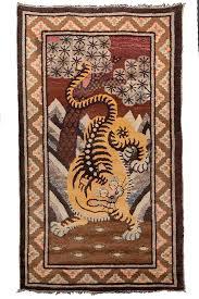 tappeti tibetani tappeti tibetani con disegno tigre unici e rari da collezione