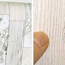 Self Adhesive Wallpaper 5m Vintage White Herb Wood Panel Pattern Self Adhesive Peel Stick