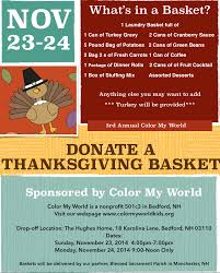 donate a thanksgiving basket color my world