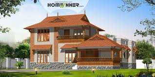 traditional sloping roof 3bhk kerala house design