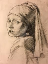 vermeer pearl earring vermeer s girl with the pearl earring sketch by qoo on