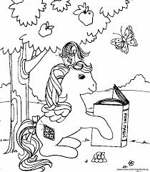 pony colouring pages pin magic color book
