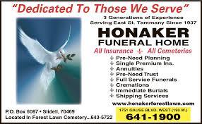 honaker funeral home slidell la 70460 yp