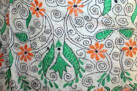 nakshi kantha silk boho floral vine pattern nakshi kantha stole scarf wrap