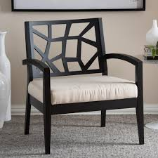 simpli home kitchener black bonded leather accent chair