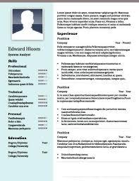 contemporary resume templates free resume contemporary resume templates free