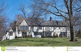 magnificent stucco english tudor home stock photo image 86958126