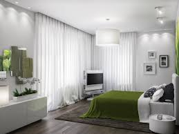 bedroom beautiful green white wood glass luxury design lime