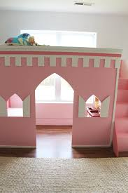 girls princess castle bed remodelaholic how to build a princess castle loft bed