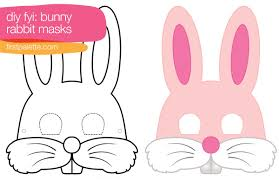 rabbit bunny mask printables general activity pinterest