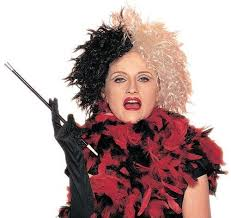 Cruella Vil Halloween Costumes Wicked Cruella Vil Black White Wig Deville 101 Dalmations