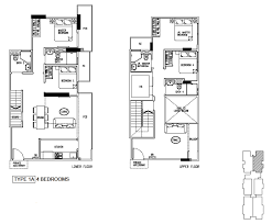 4 Bedroom Duplex Floor Plans Floor Plans 24 One Residences