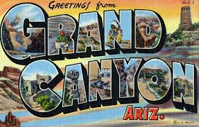 greetings from grand arizona large letter postcard a