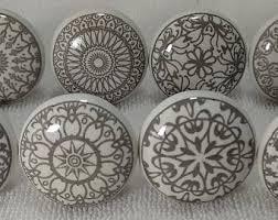 porcelain knobs for kitchen cabinets white ceramic knobs etsy
