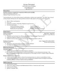 Resume Examples For College by Sample Resumes University Career Services