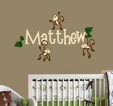 Monkey Curtains For Baby Room Baby Nursery Decor Personalized Decorating Ideas Monkey Baby