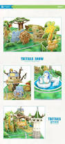3d paper jigsaw craft diy puzzle tour lovely zoo amusement park