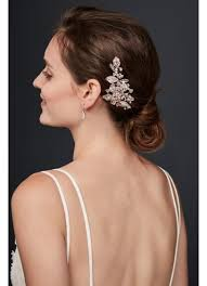 bridal hair clip bezel set sprig hair clip david s bridal