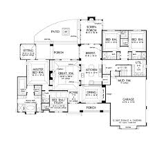 4 bedroom open floor plan gallery and one story plans with