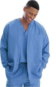 landau s warm up solid scrub jacket allheart