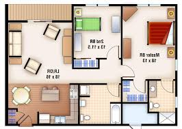 Floor Plan Of Two Bedroom House Home Design 2 Bedroom House Plans Square Feet And On Pinterest