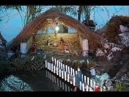 beautiful christmas crib decoration youtube