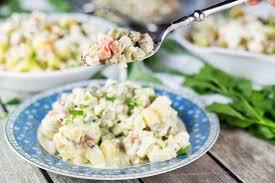 olivier cuisine olivier salad recipe aka potato salad cooking the globe