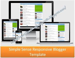 download simple sense responsive blogger template 2016 blogger