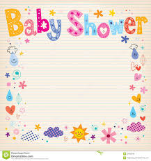 baby shower paper baby shower invitation card stock vector image 53482546