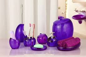 plum colored bathroom accessories