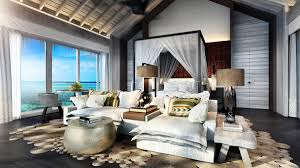 Bedroom Water Feature First Four Seasons Private Island Resort To Include Over Water Spa