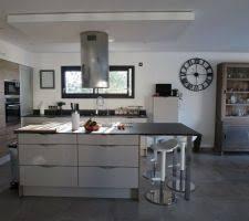 hotte ilot cuisine photos et idées cuisine avec ilot central avec hotte intégrée 345