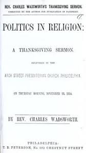 our national troubles a thanksgiving sermon delivered in the