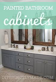 painted bathroom cabinets u2013 diystinctly made