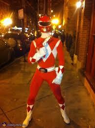 red mighty morphin power ranger costume photo 4 5