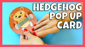 how to make hedgehog pop up card fall crafts for kids youtube