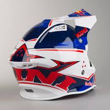 Kini Red Bull Competition Motocross Helmet Marina Blue U0026 White