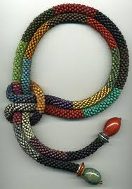crochet beading necklace images Catherine hysell the knot makes a great element to the necklace jpg