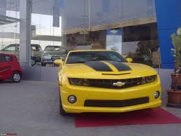 cost of chevrolet camaro in india pics the chevy camaro autobot edition in india team bhp
