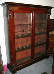 Mahogany Bookcase With Glass Doors Antique Mahogany Bookcase Antique Mahogany Library Bookcase Large