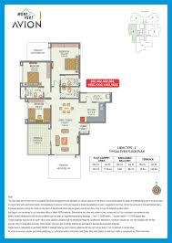 3 bhk apartment floor plan floor plans mont vert avion