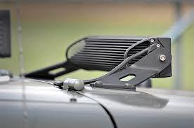 20 single row led light bar rough country jeep tj 20 inch single row led light bar hood mounts