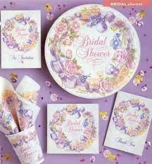 bridal shower plate to sign bridal shower plates abundantlifestyle club