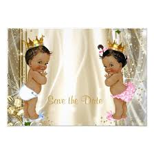 Baby Shower Save The Date Ethnic Prince Princess Baby Shower Save The Date Card