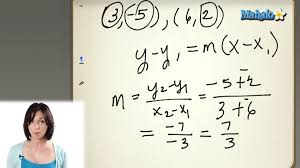 finding the equation of a line in point slope form